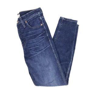 Madewell High Riser Skinny Skinny Jean 28